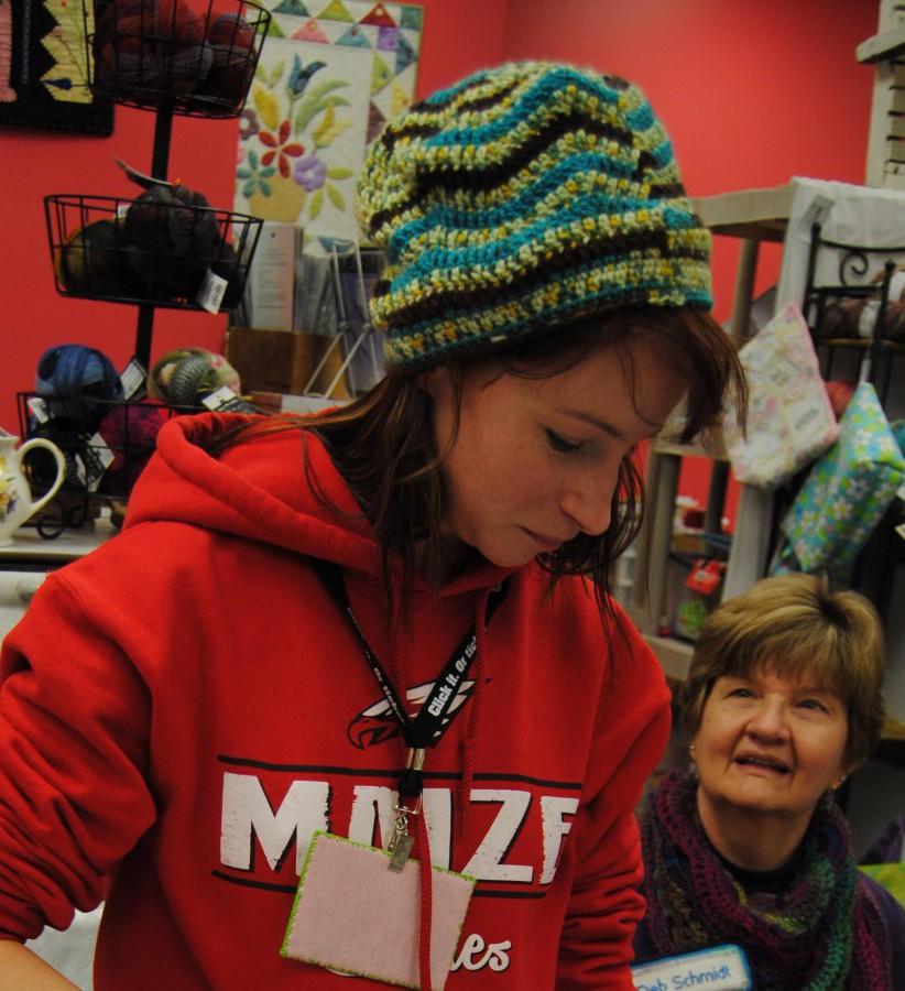 Jillian has been very busy crocheting a hat,